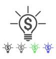 financial idea bulb icon vector image