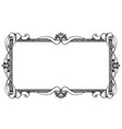 ornamental frame label design vector image