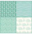 Set of decorative nautical seamless patterns vector image