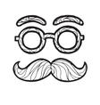 sketch male mustache vector image