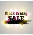 Black Friday sale Grunge banner with lettering vector image vector image