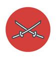 japan sword katana icon isolated on white vector image