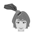 staining of female hair in a hairdresser hair vector image