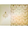 Vintage damask ornamental background vector image