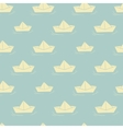 background with paper boats vector image