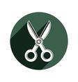 Simple scissors tailor work tool Sharp ins vector image