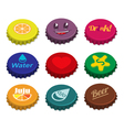 Set of bottle caps vector image vector image
