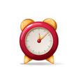 cartoon alarm red clock shadow and reflect vector image