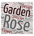 Design Your Own Rose Garden text background vector image