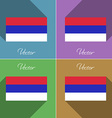 Flags Republika Srpska Set of colors flat design vector image