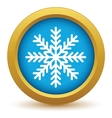 Gold snowflake icon vector image