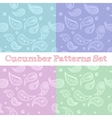 paisley seamless patterns set in pastel colors vector image