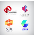 Set of abstract colorful ribbon logos vector image