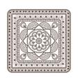 squared decorative line mandala icon vector image