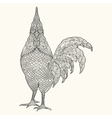 Hand drawn Decorative element Rooster Sign of vector image