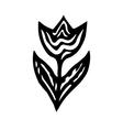 Symbol of a rose Black and white flower Floral emb vector image