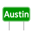 Austin green road sign vector image
