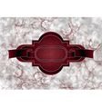 maroon grungy frame vector image vector image