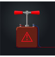 retro handle detonator for dynamite cartoon vector image