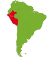 Peru map vector image vector image