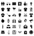 Shirt polo icons set simple style vector image