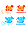 King of fish symbol vector image vector image