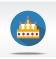 flat icons of cake vector image vector image