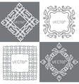 Floral outline frames and borders Monogram mono vector image