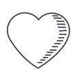 cute heart icon vector image vector image