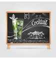 Chalk drawings cocktail vector image