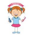 children dental care vector image