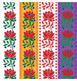 czech folk seamless pattern fabric jacquard ribbon vector image