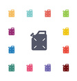 jerrycan flat icons set vector image
