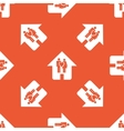Orange family house pattern vector image