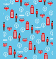 Seamless pattern background with london symbols vector image