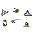 Set of road and highway icons vector image