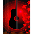 violin and maple leaf vector image