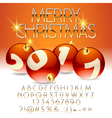 Beautiful Merry Christmas 2017 greeting card vector image