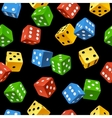 dice seamless pattern vector image vector image