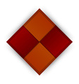 business four squares red vector image vector image