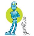 Robot Character Mascot vector image vector image