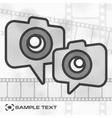 Camera icon  film strip vector image vector image