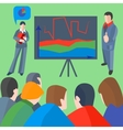 Conference business projector people man woman vector image