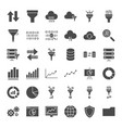 filter solid web icons vector image