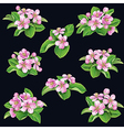 flowering bunches on black vector image