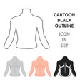 Human back icon in cartoon style isolated on white vector image