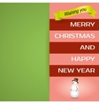Merry Christmas postcard Happy holidays wish vector image