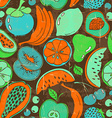 Retro colorful fruit seamless pattern vector image