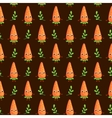 seamless pattern with cute Carrots vector image