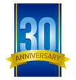 Thirty years anniversary label vector image